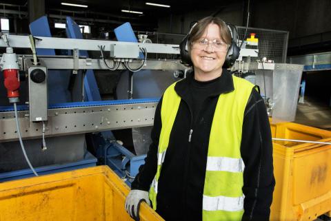 Lise Steffensen, operatør i Dansk Retursystem