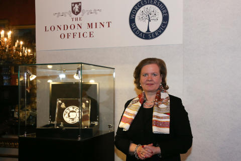 The unveiling of the Pistrucci Medal at Apsley House
