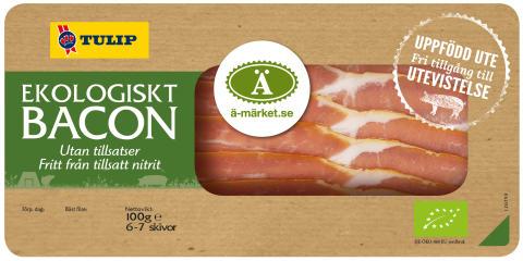 Nitritfri ekologisk bacon från Tulip nu Ä-märkt