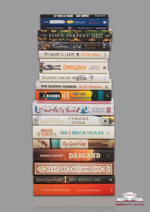 Costa Book Awards Shortlist 2016 stacked grey