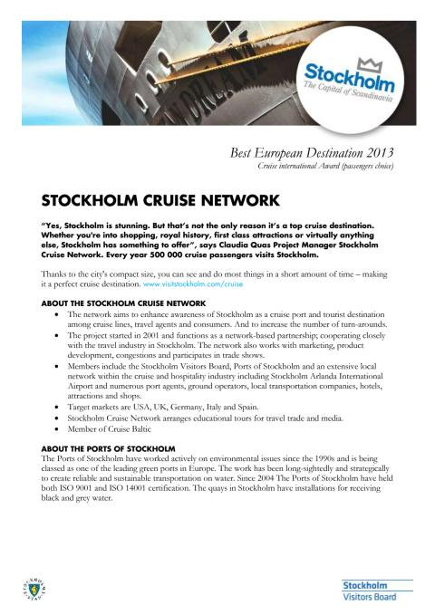 Stockholm Cruise Network