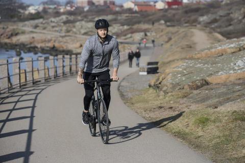 Elcyklar för första gången i motionslopp
