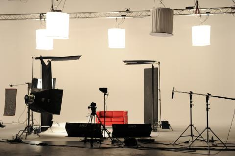 Das Set in den Eisbachstudios