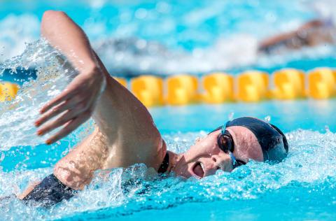 Sveriges studentidrottslandslag åtta i finalen på 4x100 medley för damer på Universiaden – med simmare från Skåne, Dalarna och Stockholm