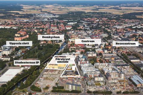 Ikano Bostad har förvärvat 500 nya byggrätter i centrala Uppsala
