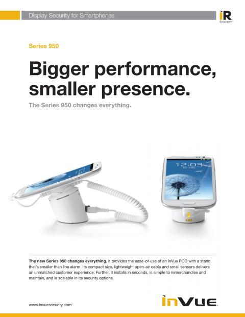 Varularm från Gate Security - InVue Series 950 - Smartphones