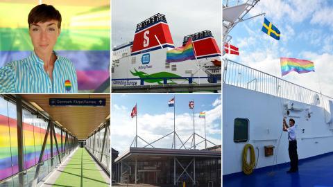 Stena Line flaggar regnbågsflaggan