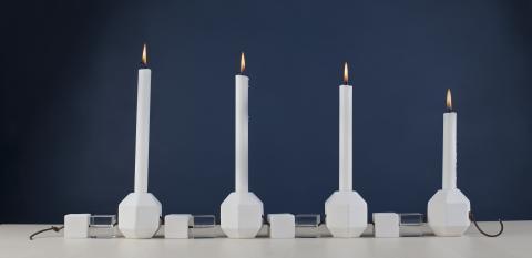 KUBIST lysestake fra Porsgrunds Porselænsfabrik