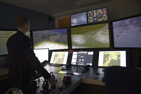 High res image - Kongsberg Digital - Kalmar Ship bridge simulator
