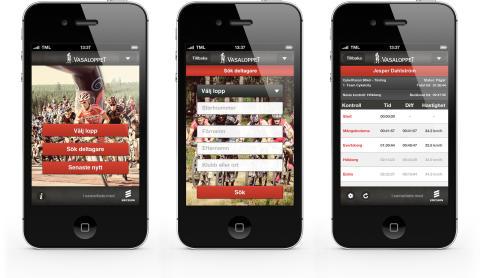 Ny app - Vasaloppet Sommar 2012 iPhone