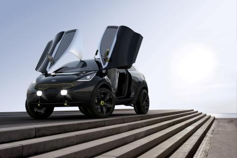 Kia Niro koncept på Bilsalongen i Frankfurt