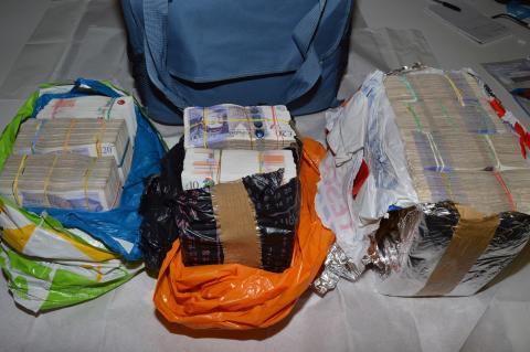 Cash seized by HMRC