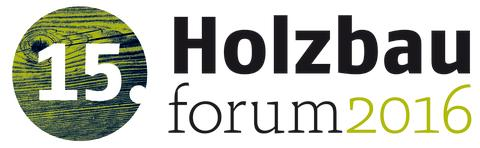 15. Holzbauforum 2016