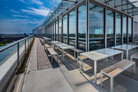 Nola furnish the terrace at the awarded Biomedicum