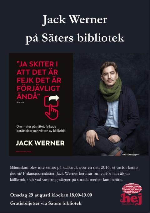Jack Werner om källkritik på Säters bibliotek