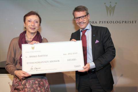 Stora psykologpriset till Aniko Bartfai på Danderyds sjukhus