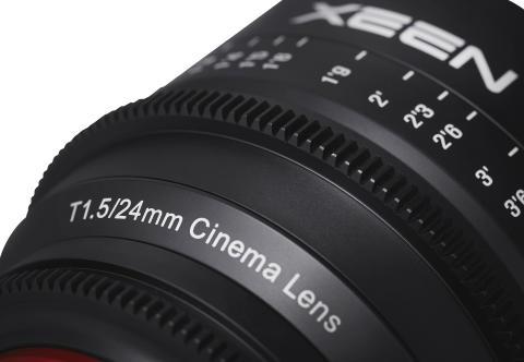 XEEN 24mm T1,5 detaljebillede