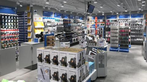 Insidan av butiken i Bollnäs