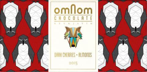 Omnom Festive 2015: Dark cherries + almonds: Isländsk hantverkschoklad i begränsad upplaga som gör julmyset ännu mysigare