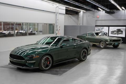 New-2019-Mustang Bullitt-with-original-Bullitt-movie-Mustang