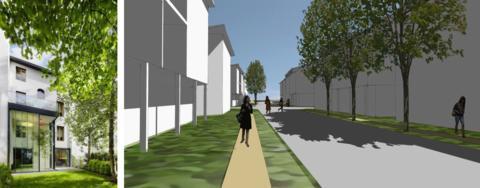 230 bostäder föreslås på Sjöudden i Växjö
