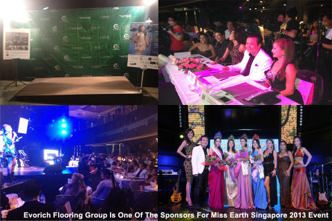 Evorich Flooring Group At The Miss Earth Singapore 2013 Event