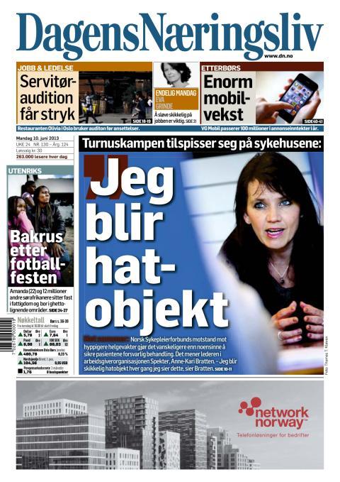 Dagens Naeringsliv, Norway 20130610