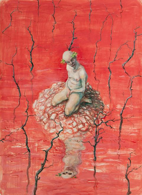 Victory Island / Michael Kvium / 2010 / Acryl på papper / 193 *140 cm