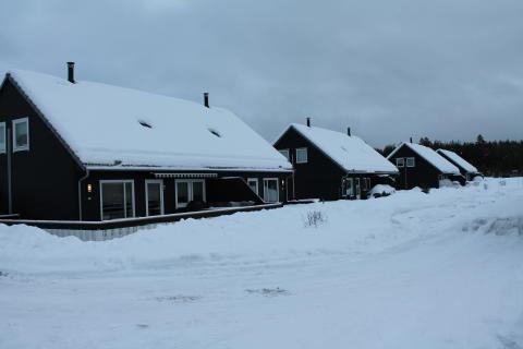 Snø på takvinduer