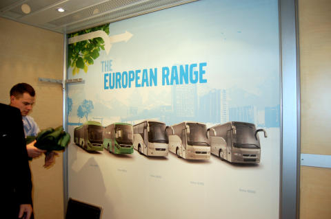 Samtalsrum Volvo Buss – Akustiktryck® från Fototext