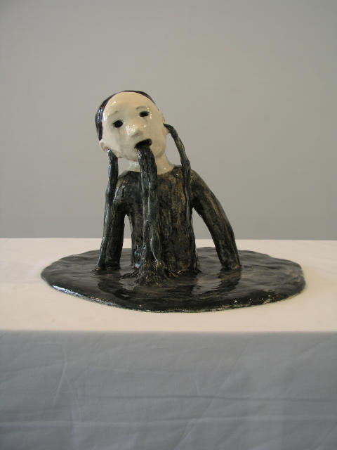 Klara Kristalova, The Catastrophy, 2007. Glazed stoneware. Courtesy of  Alison Jacques Gallery