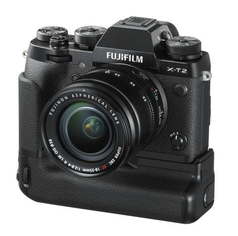 FUJIFILM X-T2 body with XF18-55mm F2.8-4 and Vertical Power Booster Grip VPB-XT2