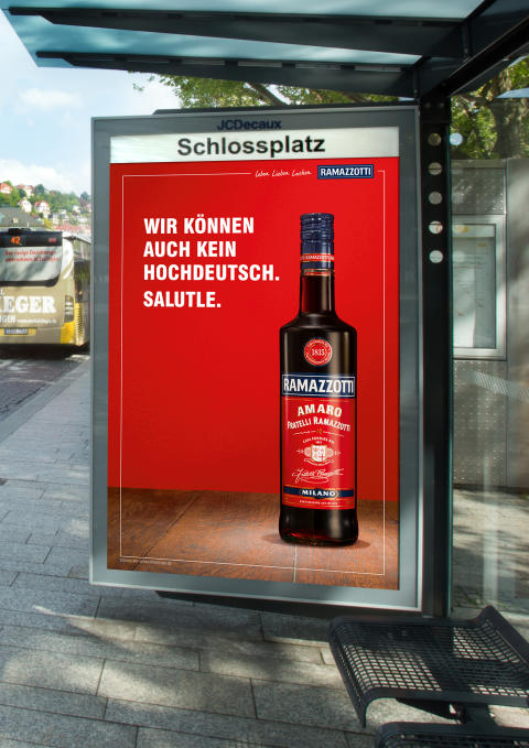 Neue Ramazzotti Kampagne: City Light Poster Stuttgart