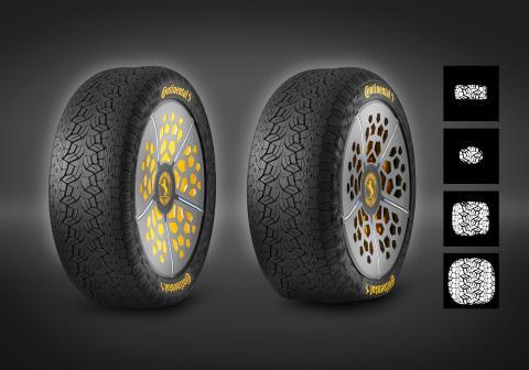 Continentalin tulevaisuuden rengasteknologiat parantavat turvallisuutta ja mukavuutta mukauttamalla renkaan tien pintaan sopivaksi