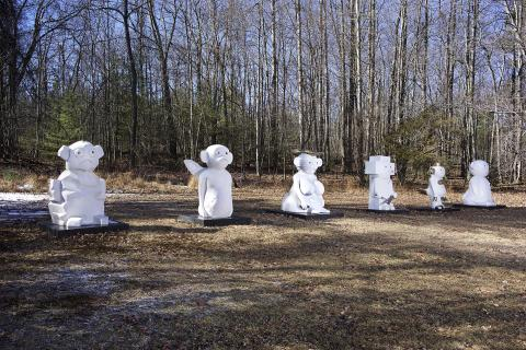 """Olaf Breuning: """"The Humans"""", 2007"""