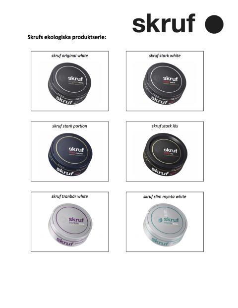 Här är skrufs nya ekologiska produktserie
