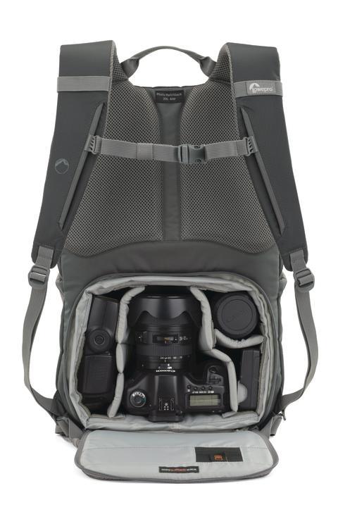 Lowepro Photo Hatchback grå med utrustning