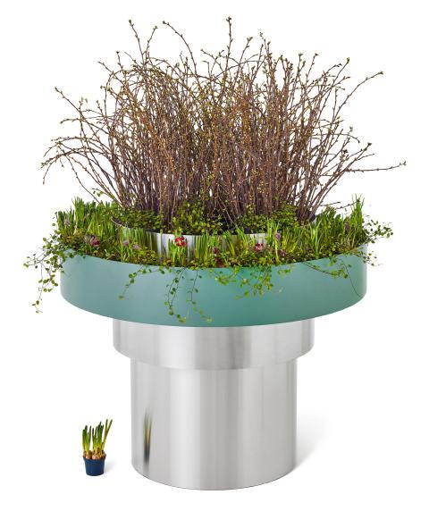 Lamell planteringskärl, design Roger Persson