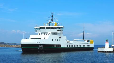 Dåb og drift venter forude for Ærøs helt egen el-færge, E/F Ellen