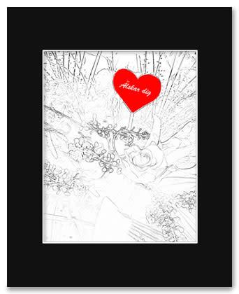 blombukett-älskar-dig-med-ram