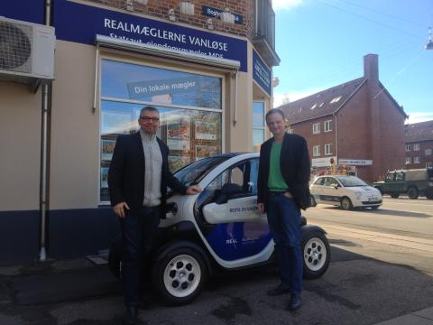 Ejendomsmægler på el - første danske Renault Twizy som ejendomsmæglerslæde