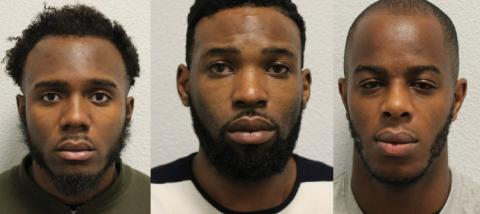 Three men jailed for firearms offences