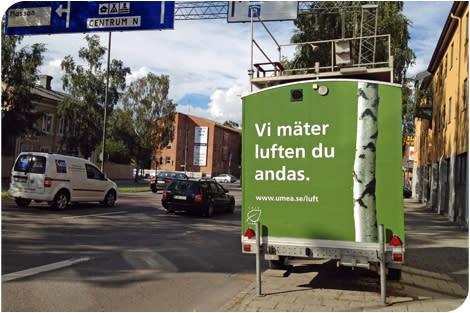 Fortsatt positiv trend för Umeås luftkvalitet