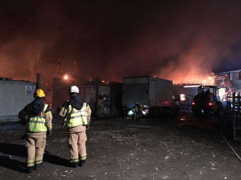 Svampleveranser säkrade trots storbrand hos skånska Hällestad