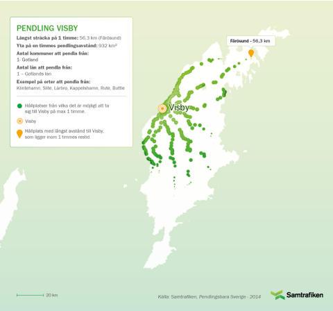 Pendlingsbara Sverige: Här kan man bo och pendla till Visby