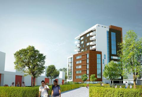 HSB och Midroc byggstartar högsta bostadshuset i Landskrona
