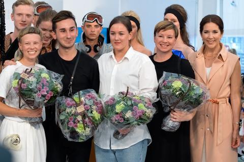 Samtliga vinnare Designers' Nest 2015 tillsammans med kronprinssessan Mary av Danmark