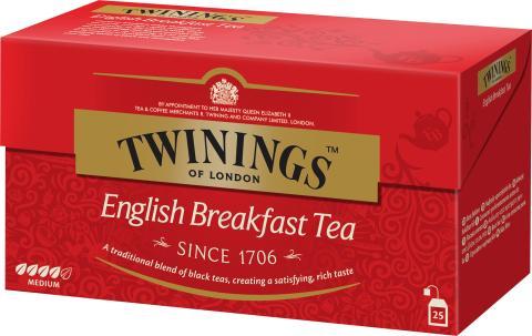 Twinings English Breakfast 25 påsar