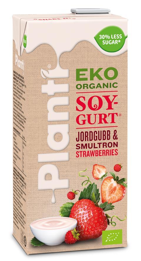 Planti Eko Soygurt Jordgubb/Smultron
