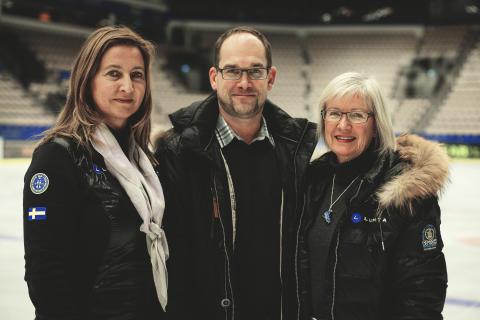 Katarina Henriksson, Peter Levin, Mona Jonsson – domare i konståkning